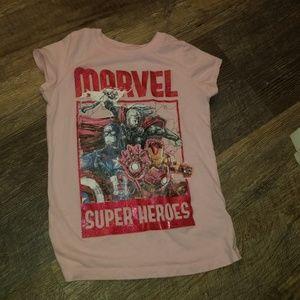 Girls Marvel tshirt
